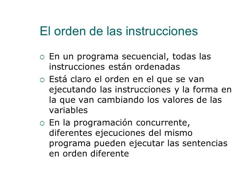 El orden de las instrucciones