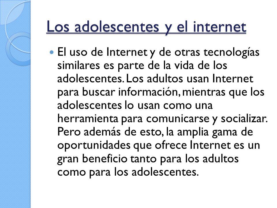 Los adolescentes y el internet