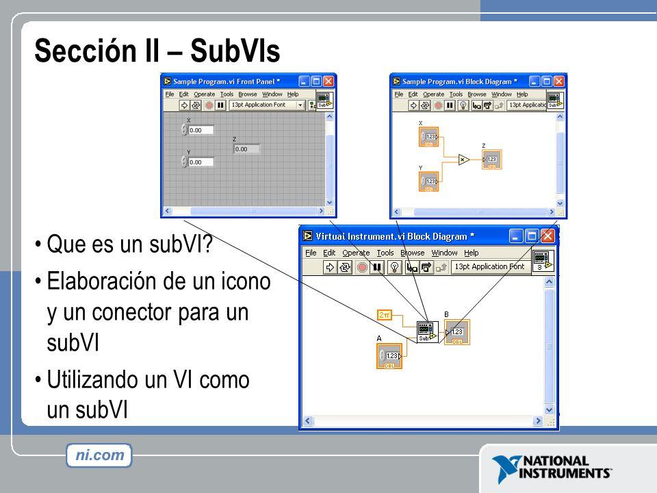 Sección II – SubVIs Que es un subVI