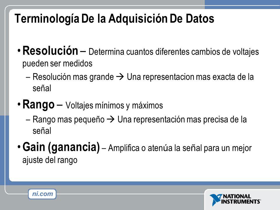 Terminología De la Adquisición De Datos