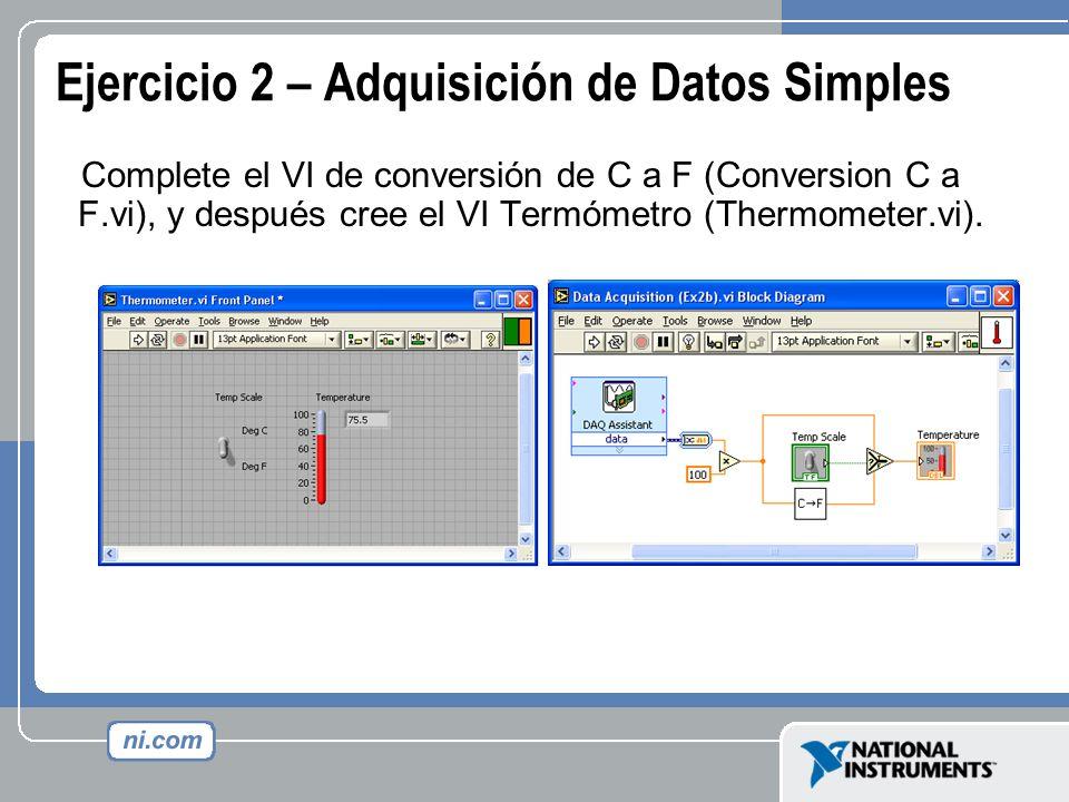 Ejercicio 2 – Adquisición de Datos Simples