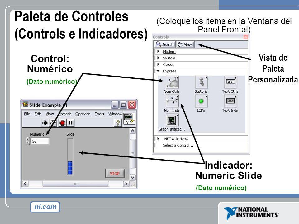 Paleta de Controles (Controls e Indicadores)