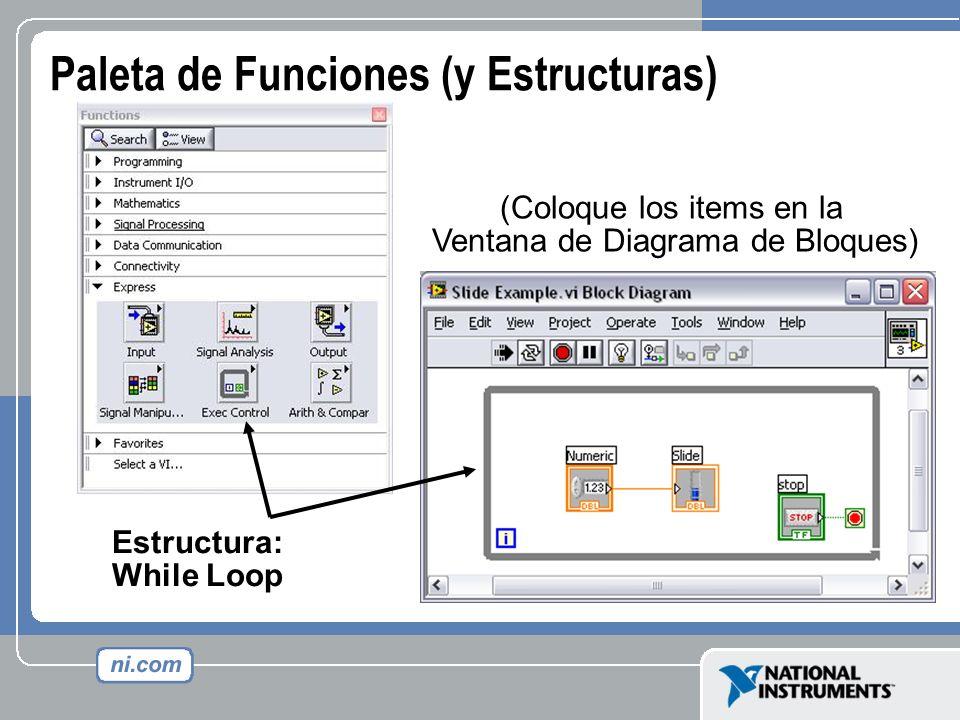 Paleta de Funciones (y Estructuras)