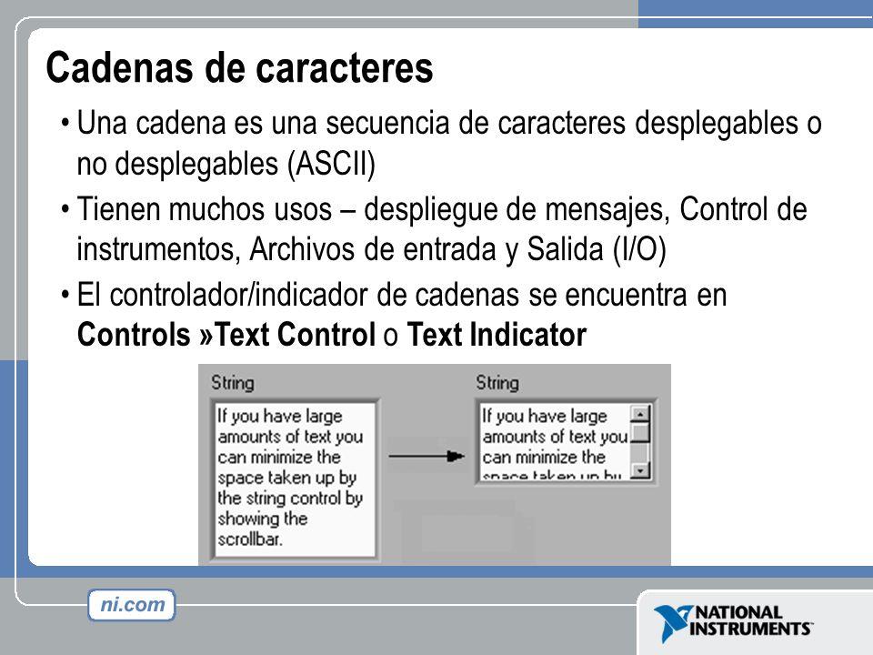 Cadenas de caracteres Una cadena es una secuencia de caracteres desplegables o no desplegables (ASCII)