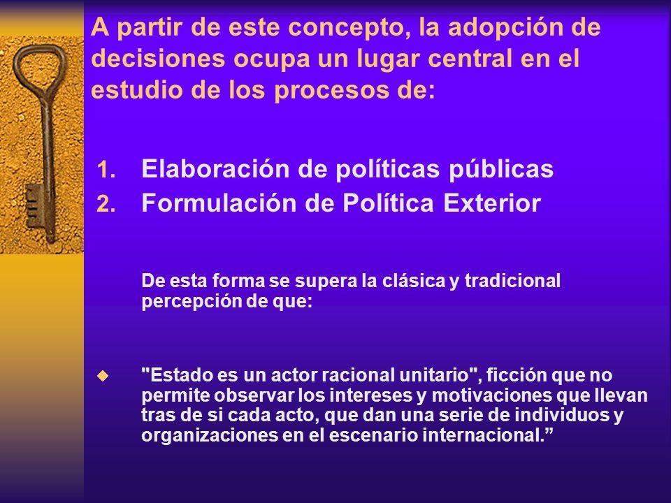 Elaboración de políticas públicas Formulación de Política Exterior
