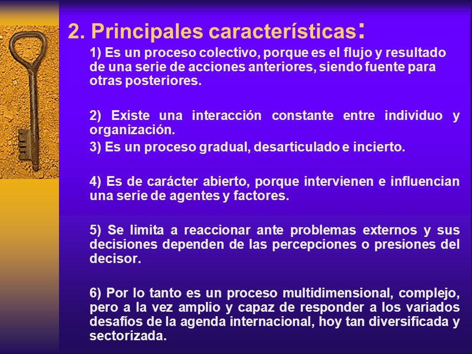 2. Principales características: