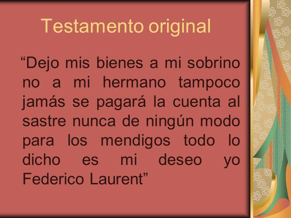 Testamento original