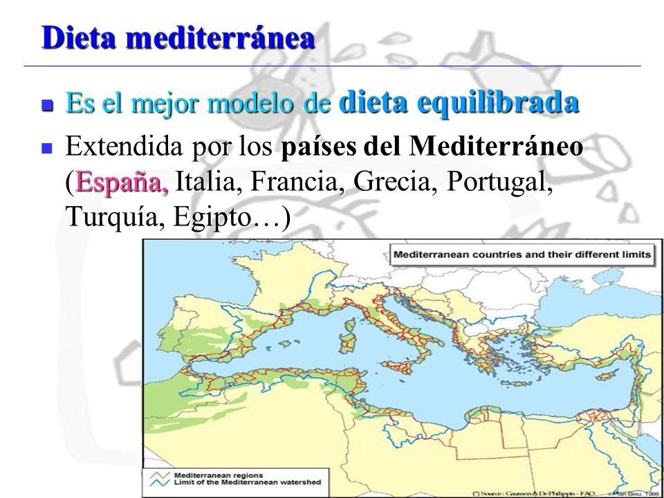 Dieta mediterránea Es el mejor modelo de dieta equilibrada