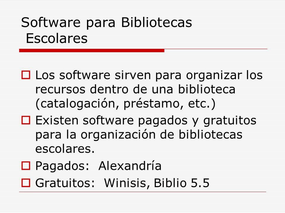 Software para Bibliotecas Escolares
