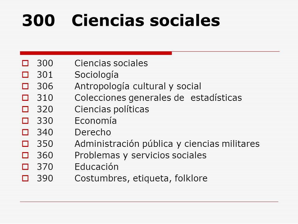 300 Ciencias sociales 300 Ciencias sociales 301 Sociología