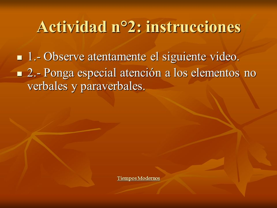 Actividad n°2: instrucciones