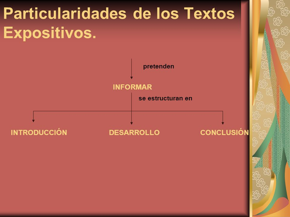 Particularidades de los Textos Expositivos.