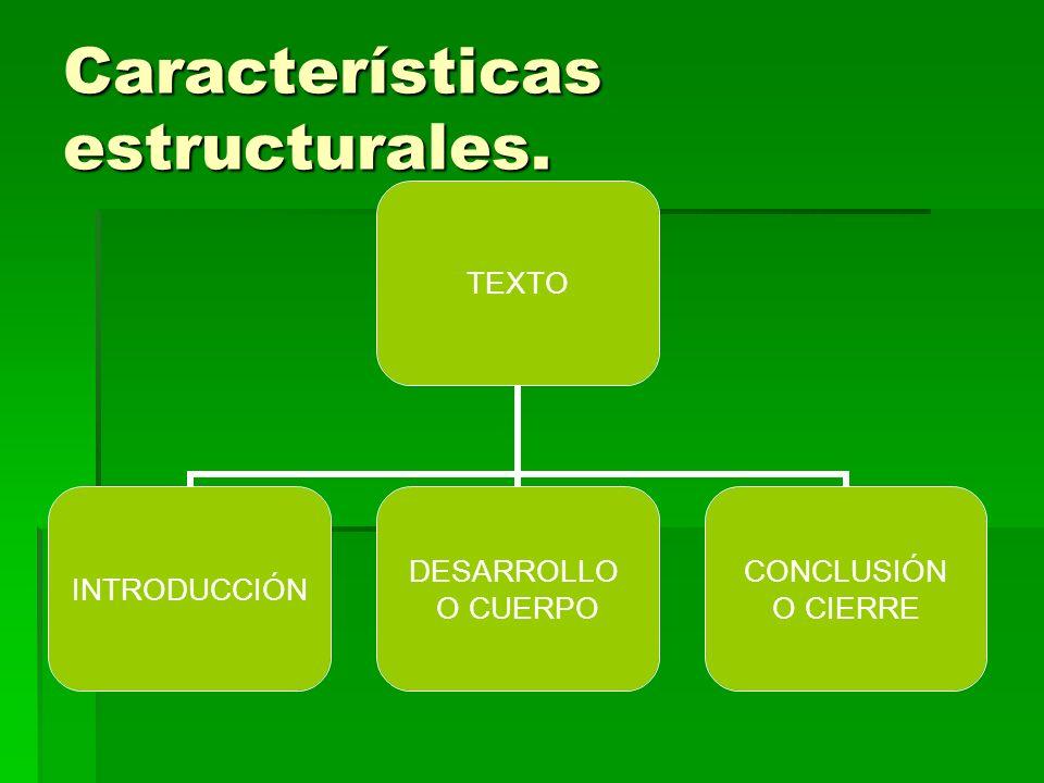 Características estructurales.