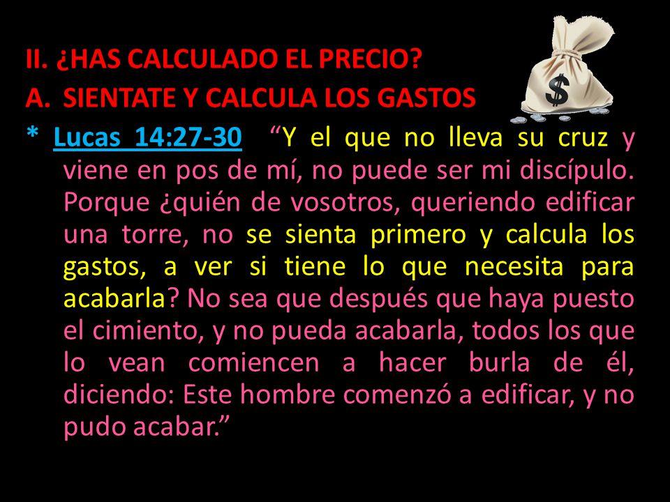 II. ¿HAS CALCULADO EL PRECIO