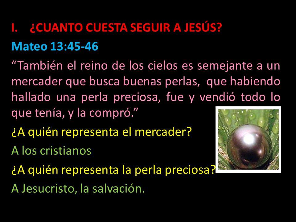 ¿CUANTO CUESTA SEGUIR A JESÚS