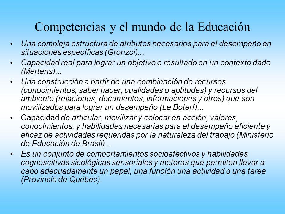 Competencias y el mundo de la Educación
