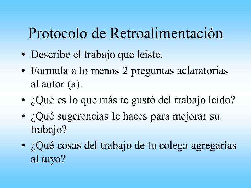 Protocolo de Retroalimentación