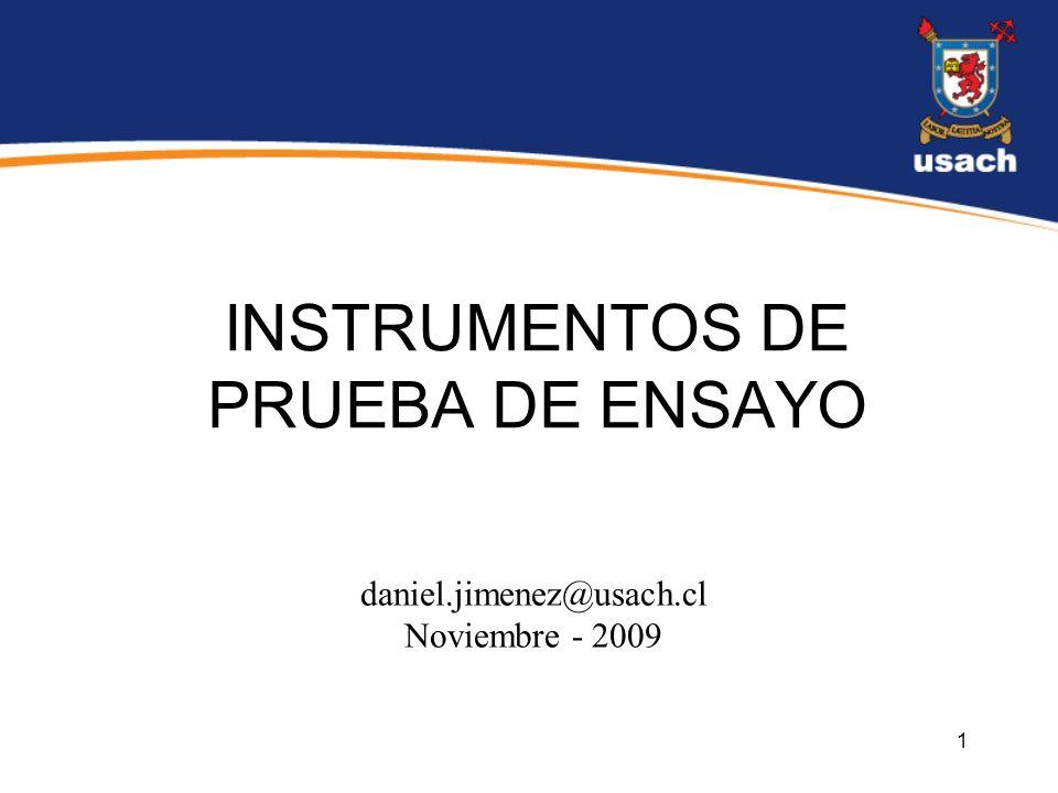INSTRUMENTOS DE PRUEBA DE ENSAYO