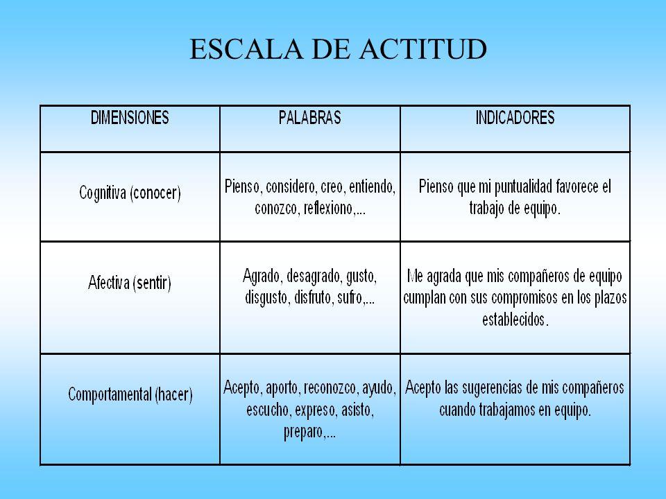 ESCALA DE ACTITUD