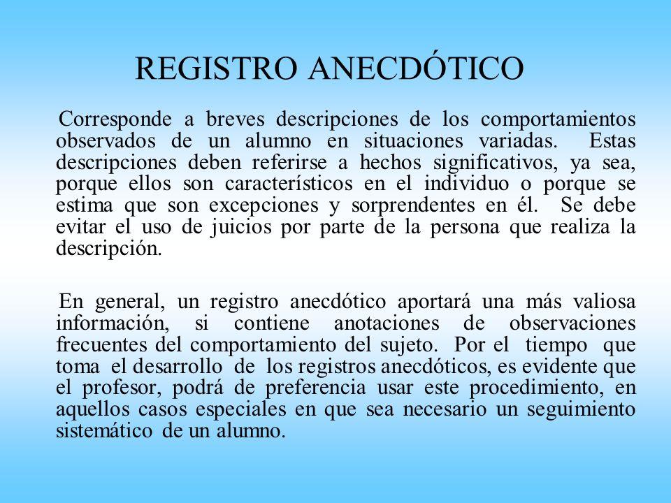 REGISTRO ANECDÓTICO
