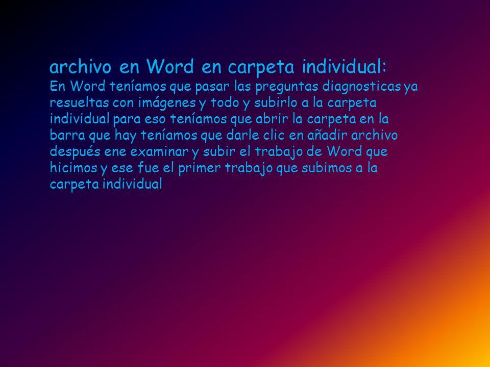 archivo en Word en carpeta individual: