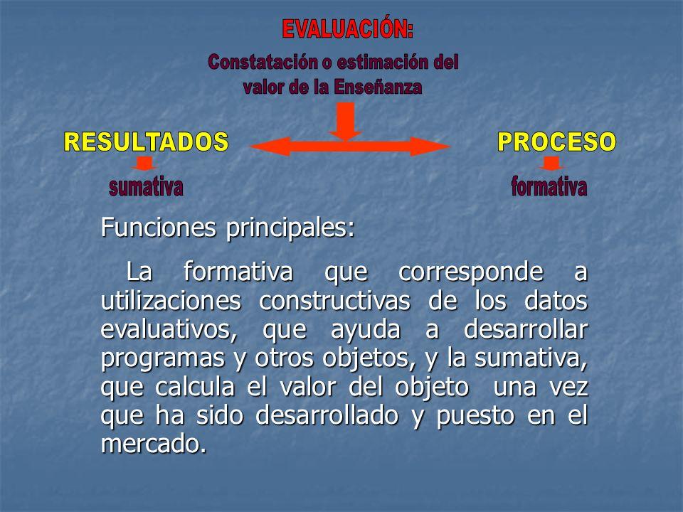 Constatación o estimación del