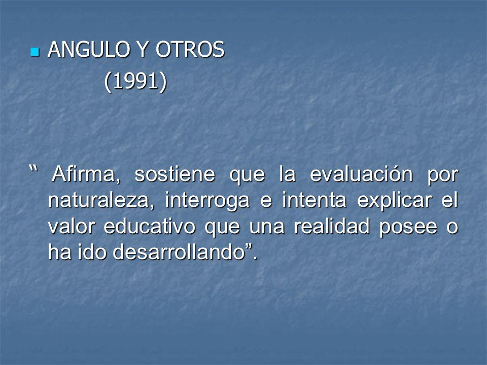 ANGULO Y OTROS (1991)
