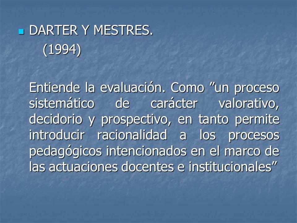 DARTER Y MESTRES. (1994)