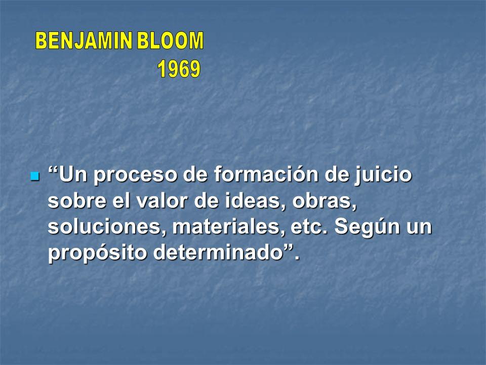 BENJAMIN BLOOM 1969.