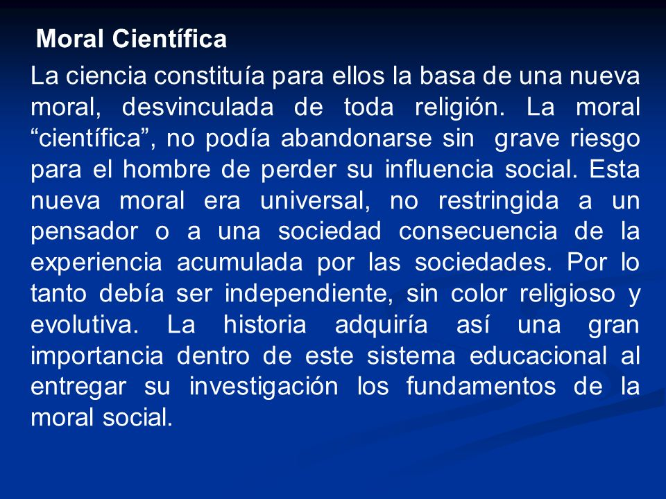Moral Científica