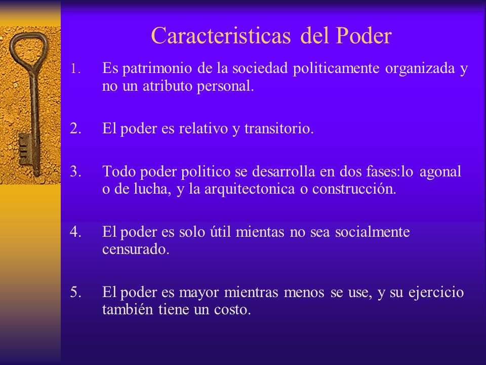 Caracteristicas del Poder