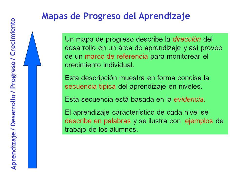 Mapas de Progreso del Aprendizaje