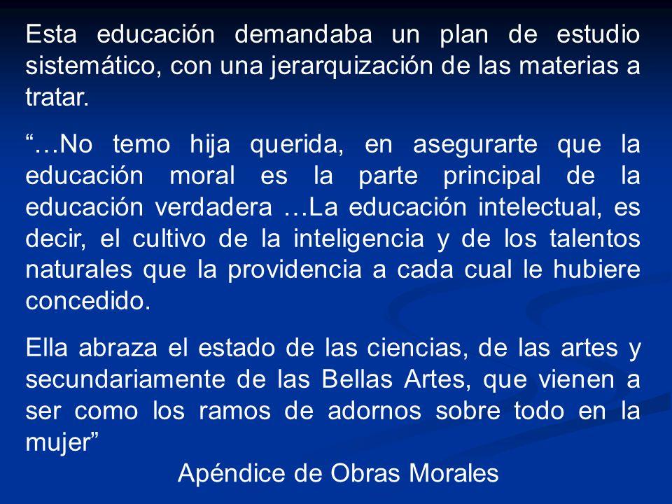 Apéndice de Obras Morales
