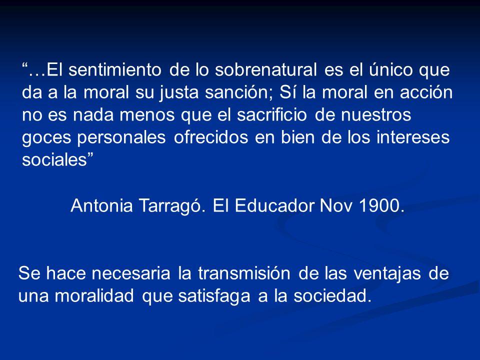 Antonia Tarragó. El Educador Nov 1900.