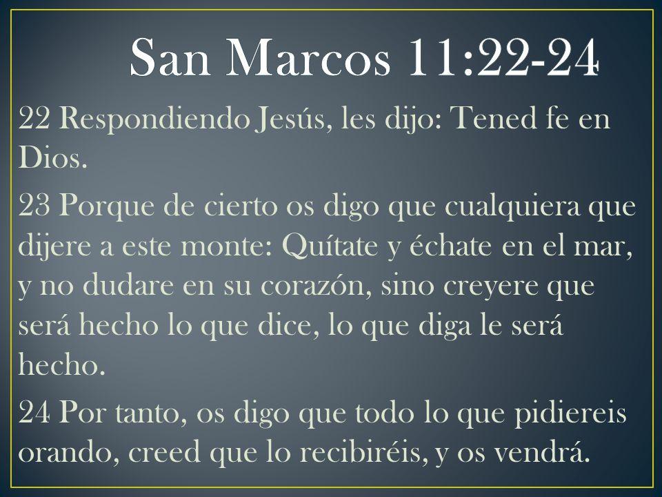San Marcos 11:22-24