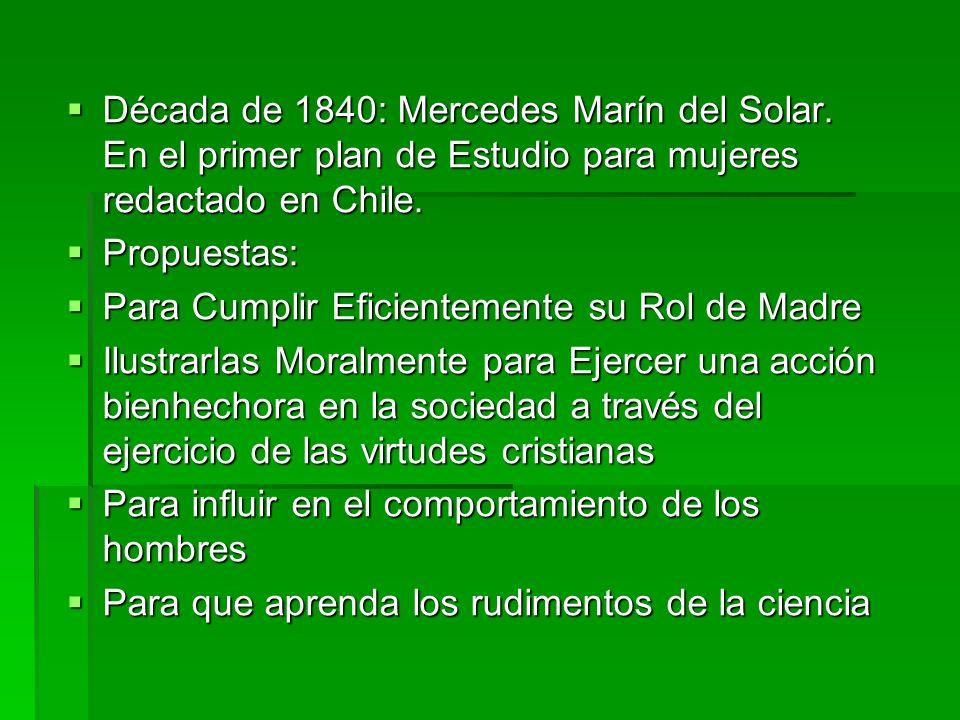 Década de 1840: Mercedes Marín del Solar