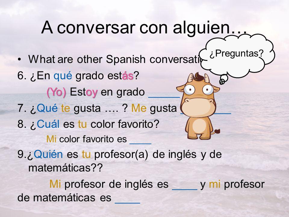 A conversar con alguien…