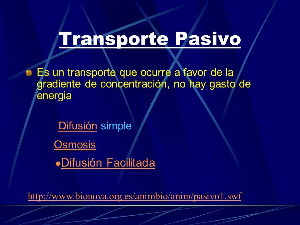 Transporte Pasivo Difusión Facilitada