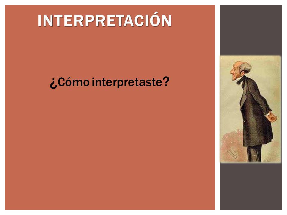 INTERPRETACIÓN ¿Cómo interpretaste