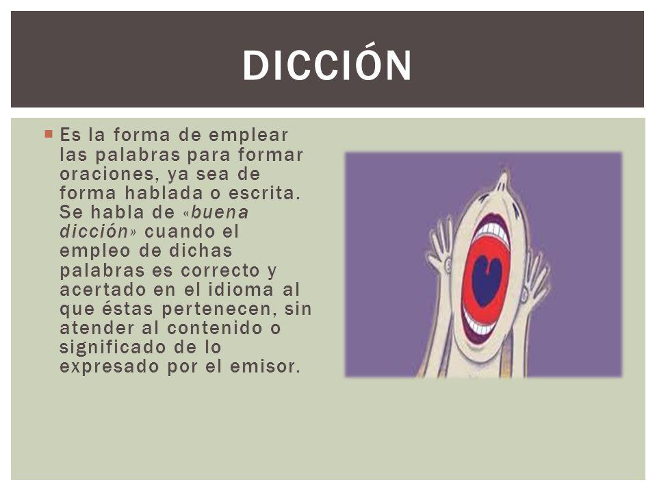 DICCIÓN
