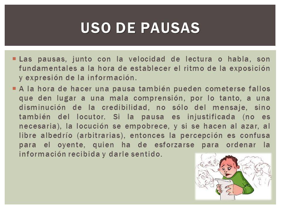 USO DE PAUSAS
