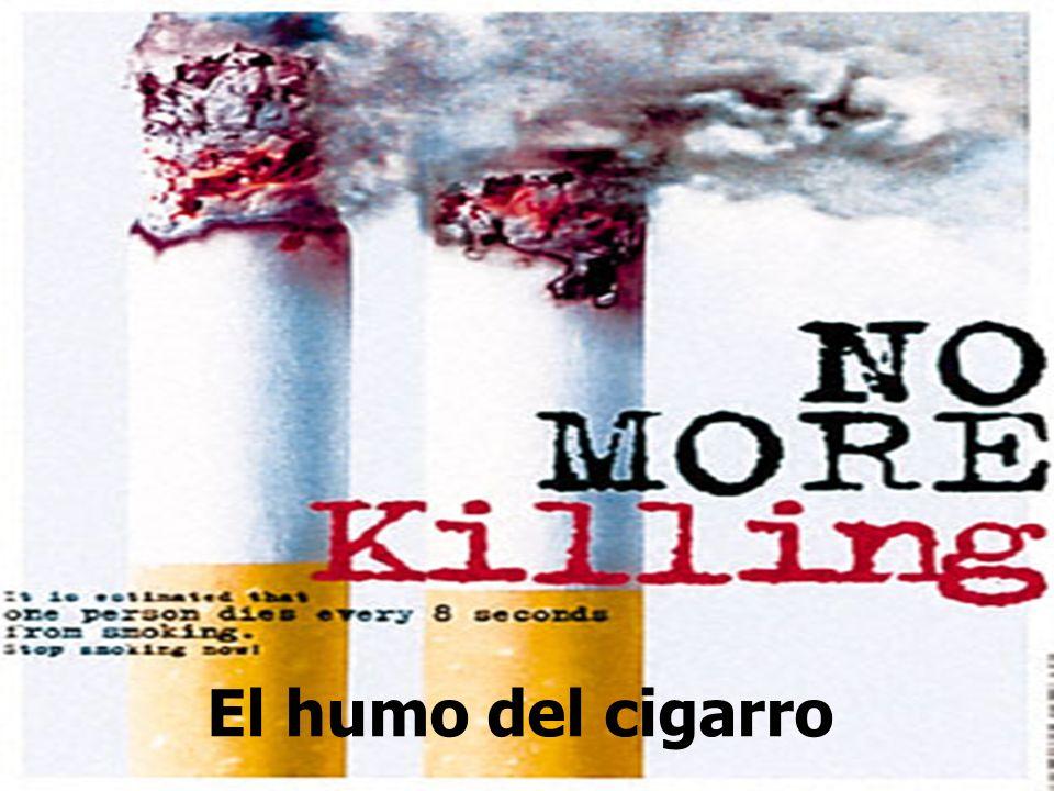 El humo del cigarro