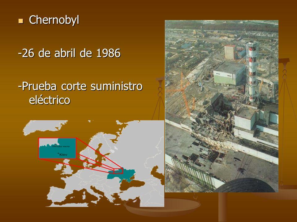 Chernobyl -26 de abril de 1986 -Prueba corte suministro eléctrico