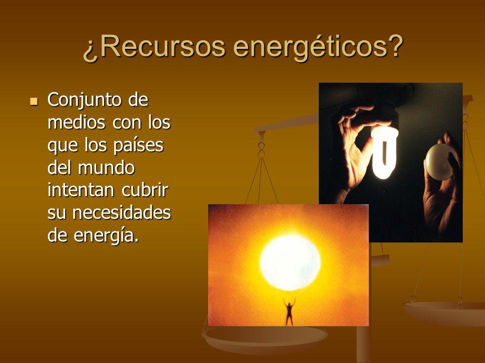 ¿Recursos energéticos