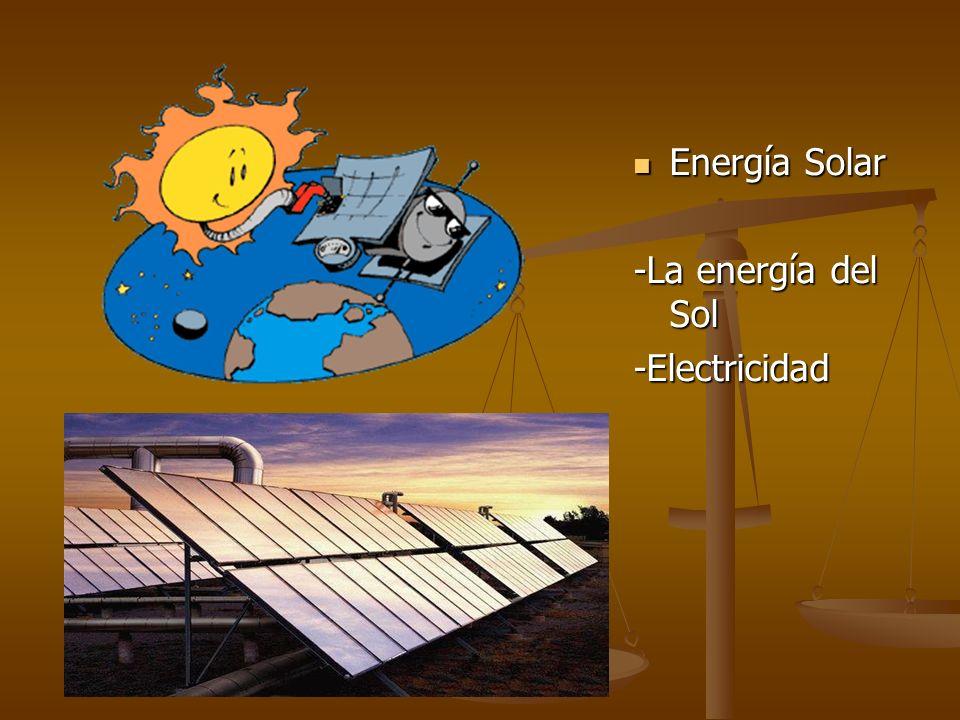 Energía Solar -La energía del Sol -Electricidad