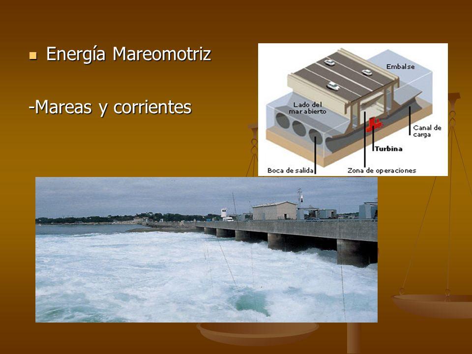 Energía Mareomotriz -Mareas y corrientes