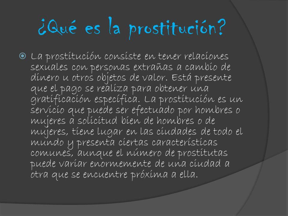 ¿Qué es la prostitución