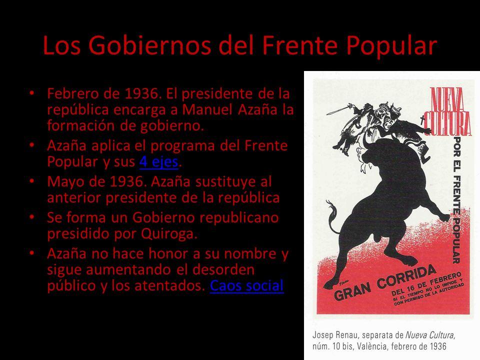 Los Gobiernos del Frente Popular