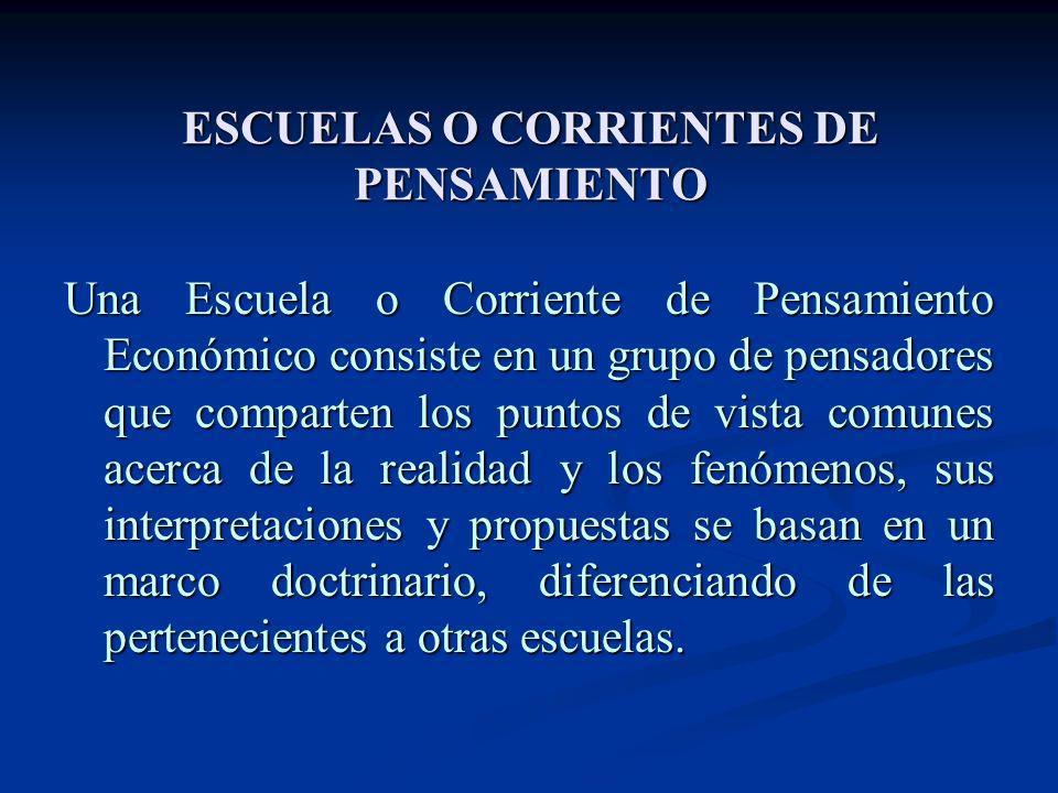ESCUELAS O CORRIENTES DE PENSAMIENTO