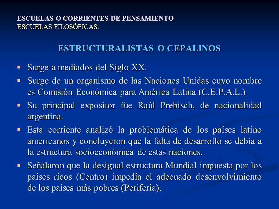 ESTRUCTURALISTAS O CEPALINOS